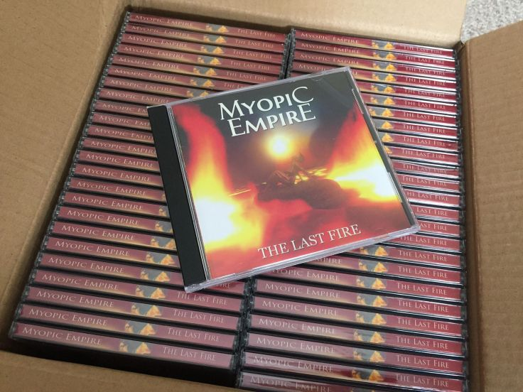The Last Fire CDs in box 2